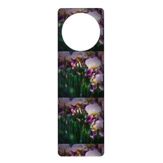 Sparkling Irises Door Hangers