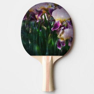 Sparkling Irises Ping-Pong Paddle