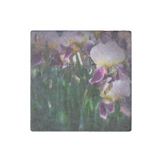 Sparkling Irises Stone Magnet