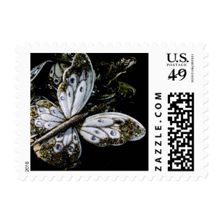 Sparkling Jewel Silver Butterfly Stamp