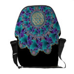 Sparkling Jeweled Fractal with Classic Celtic Knot Courier Bag