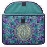 Sparkling Jeweled Fractal with Classic Celtic Knot Sleeve For MacBooks