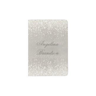 Sparkling Light Glitter Elegant Passport Holder