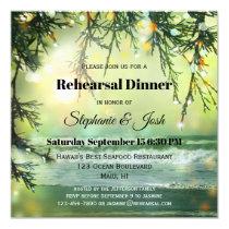 Sparkling Lights Beach Rehearsal Dinner Invitation