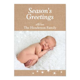"Sparkling Lights Holiday Card 5"" X 7"" Invitation Card"