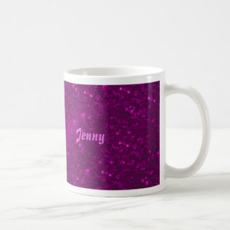sparkling lights pink classic white coffee mug