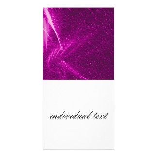 sparkling lights pink customized photo card