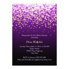 Sparkling lights purple wedding bridal shower 5