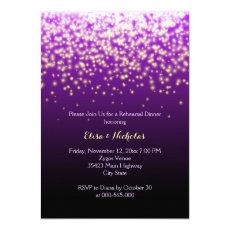 Sparkling lights purple wedding rehearsal dinner 5