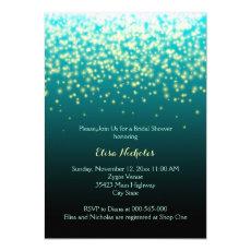 Sparkling lights teal, aqua wedding bridal shower 5