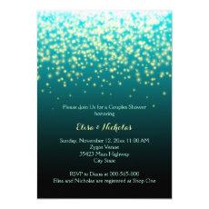 Sparkling lights teal, aqua wedding couples shower 5