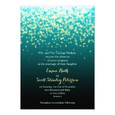 Sparkling lights teal blue and aqua wedding 5