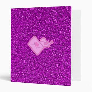 sparkling love message vinyl binder