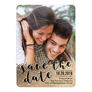 Sparkling Love Photo Save The Date Card