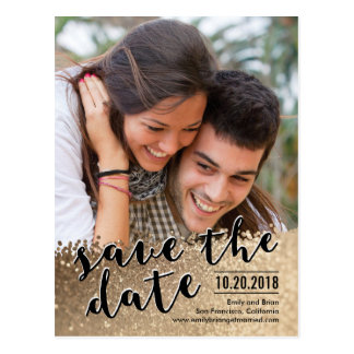 Sparkling Love Save The Date Postcard