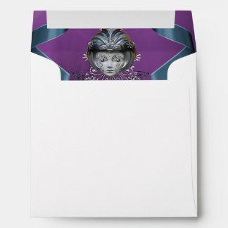 Sparkling Mardi Gras Party Mask & Streamers Envelope