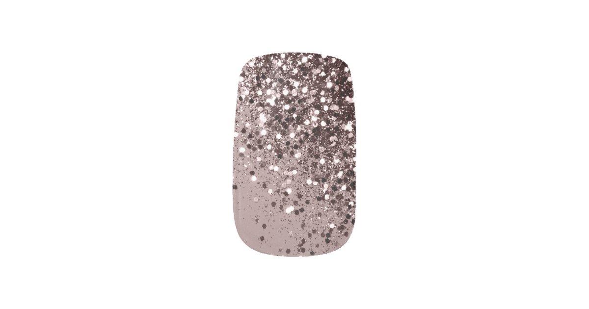 Sparkling Mauve Lady Glitter 1 Shiny Minx Nail Art Zazzle Com