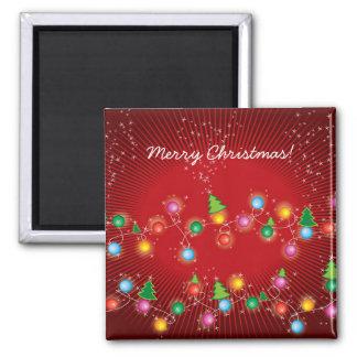 Sparkling Mini X'mas Tree Lights Gift Magnet