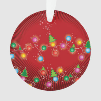 Sparkling Mini X'mas Trees Holiday Photo Ornament