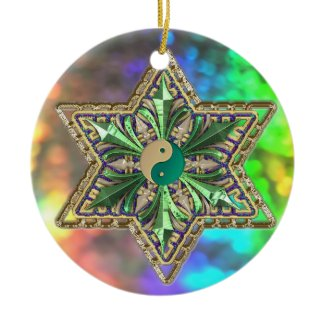 Sparkling Multicolored Ornament with Stars