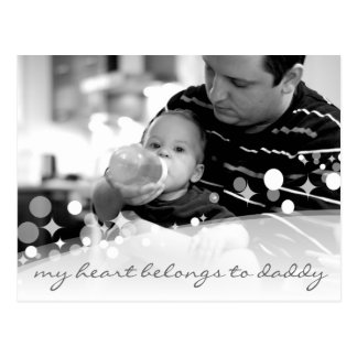 sparkling my heart belongs to daddy post cards