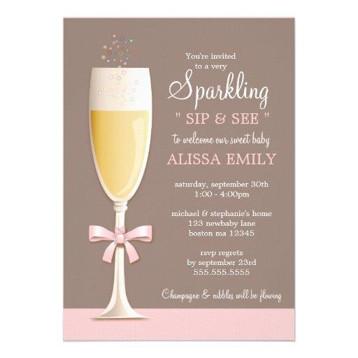 personalized sip and see invitations custominvitations4u com