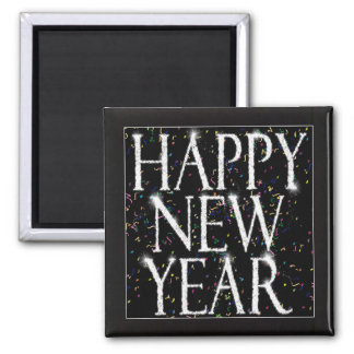 Sparkling New Years Refrigerator Magnet