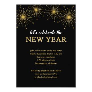 "Sparkling Night New Year's Eve Party Invitation 5"" X 7"" Invitation Card"