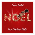 "Sparkling Noel 5.25"" Square Invitation Card"