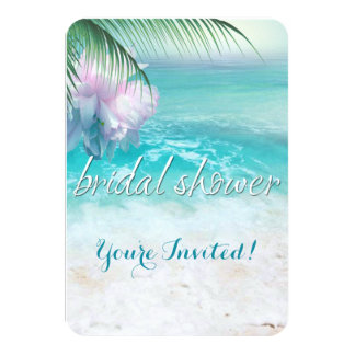 SPARKLING OCEAN WATERS Bridal Shower 3.5x5 Paper Invitation Card