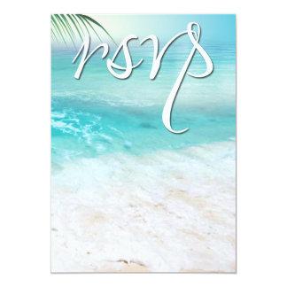 SPARKLING OCEAN WATERS RSVP Wedding 5x7 Paper Invitation Card