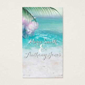 SPARKLING OCEAN WATERS Website Wedding Card