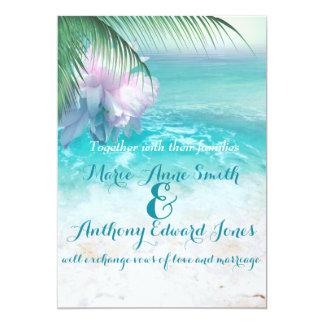 SPARKLING OCEAN WATERS Wedding Invitation