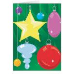 Sparkling Ornaments Christmas Card