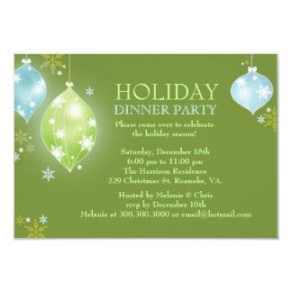Sparkling Ornaments Winter Holiday Party Card