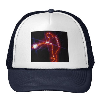 Sparkling outline of baseball batter hats