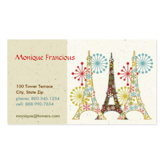 Sparkling Paris Business Card