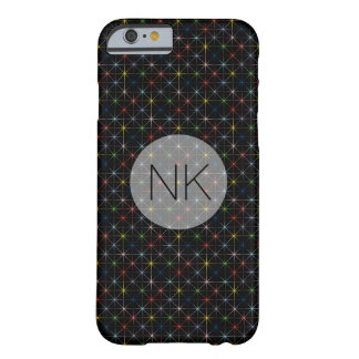 sparkling pastel stars custom monogram barely there iPhone 6 case