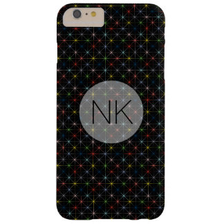 sparkling pastel stars custom monogram barely there iPhone 6 plus case