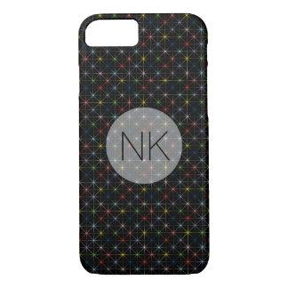 sparkling pastel stars custom monogram iPhone 7 case