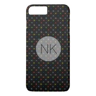 sparkling pastel stars custom monogram iPhone 7 plus case