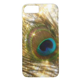Sparkling Peacock Feather iPhone 7 case