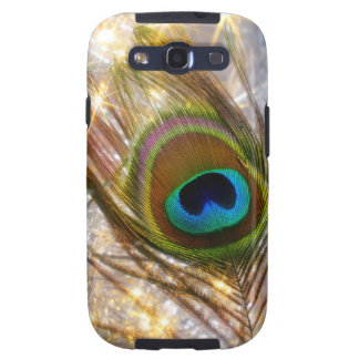 Sparkling Peacock Feather Samsung Galaxy S3 Case