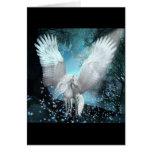 Sparkling Pegasus Greeting Cards