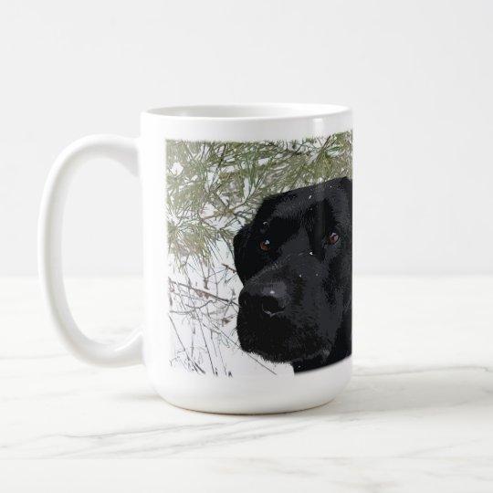 Sparkling Pines Black Lab Coffee Mug