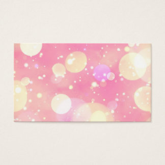 Sparkling Pink Bubbles Business Card