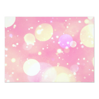 Sparkling Pink Bubbles Card