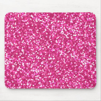 Sparkling Pink Glitter Mouse Pad