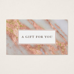 Sparkling Pink Marble Abstract Gift Certificate
