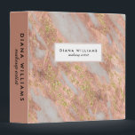 """Sparkling Pink Marble Abstract Makeup Artist 3 Ring Binder<br><div class=""""desc"""">An elegantly feminine abstract marble pattern in pink and grayish-white with gold glitter sparkle highlights and chic text layout. This 3-ring binder is shown as a makeup artist binder but also works beautifully for many professions: stylish, manicurist, interior design, personal shopper, assistant, office manager, sales, accountant, legal, fashion industry, and...</div>"""